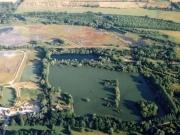 Close up of Thrupp Lake (E) and Bullfield Lake (F)