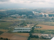 Southward view of Sutton Courtenay Gravel Pits and Didcot Power Station