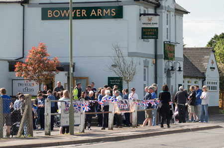 At the Bowyer Arms before the start of the 51st anniversary Good Friday Walk. Photograph by B Crowley.