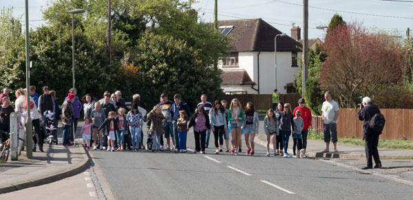 The start of the 12th Triangle Walk. Photograph by B Crowley.