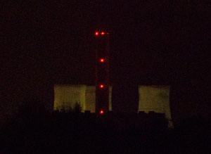 Didcot 'A' Power Station photographed from Radley just after midnight on 27th July 2014 by B Crowley