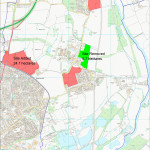 Map showing the changes to the Housing Delivering Plan affecting the Parish as incorporated in the revised Draft Local Plan (Sept 2014).