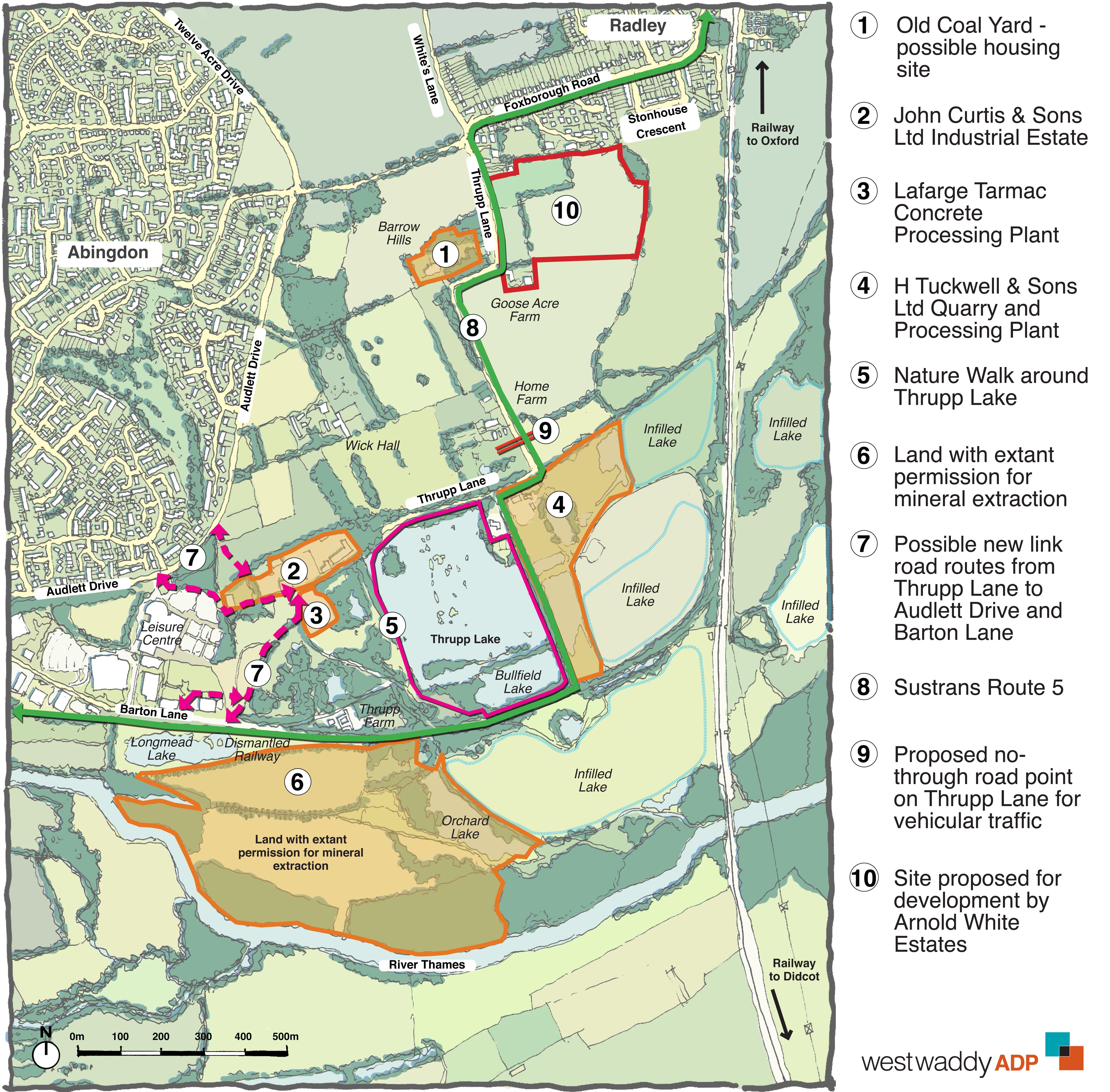 Thrupp Lane single map2
