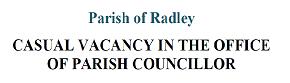 Notice of a casual vacancy