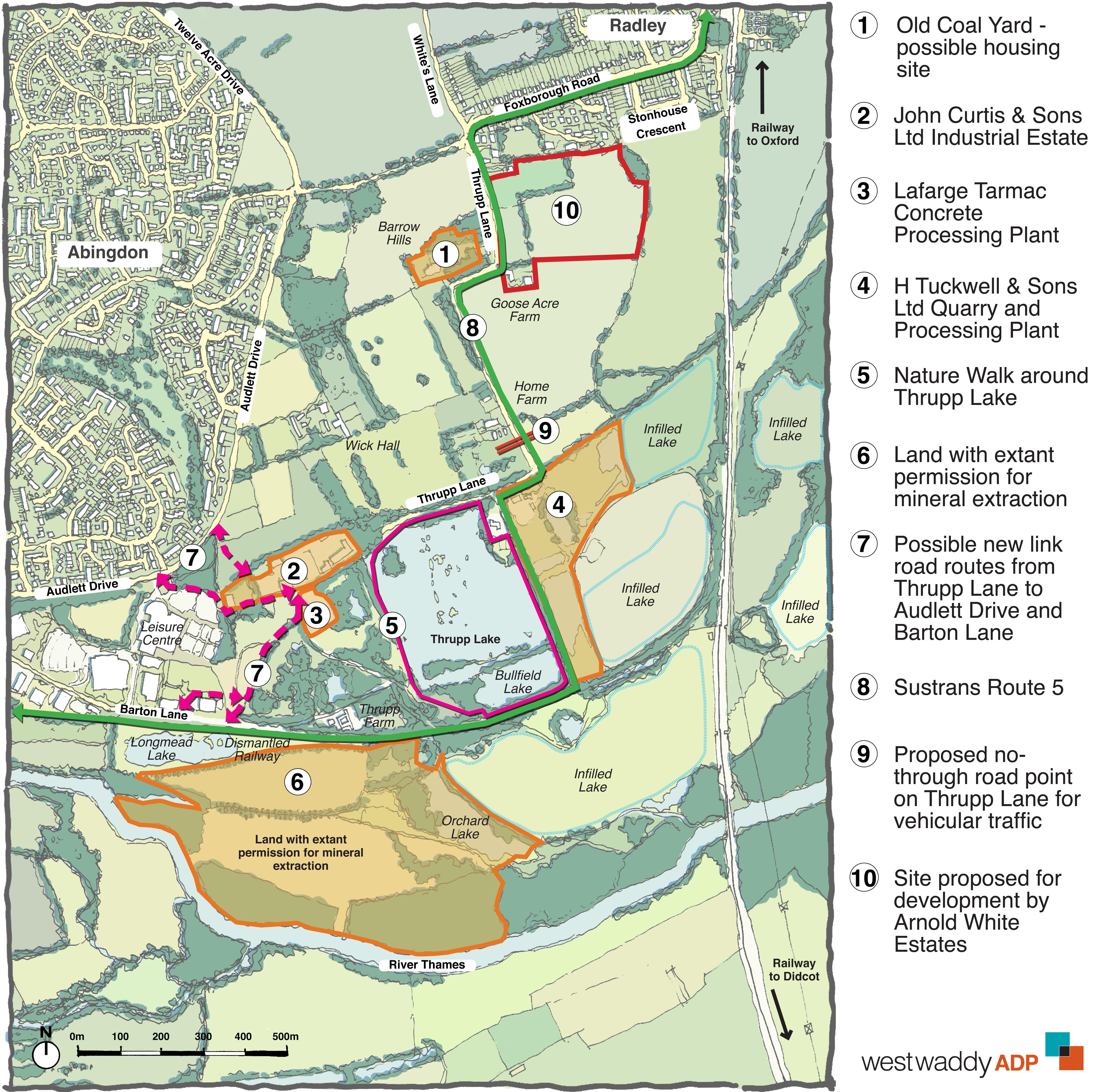 Thrupp Lane single map