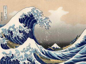 Image of Hokusai wave painting